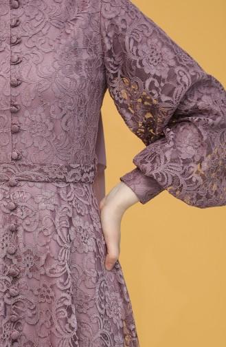 Lila Hijab-Abendkleider 5477-01