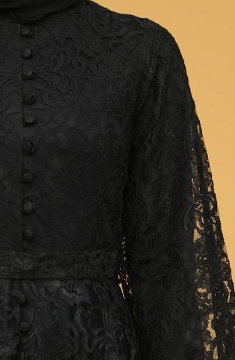 Schwarz Hijab-Abendkleider 5477-02