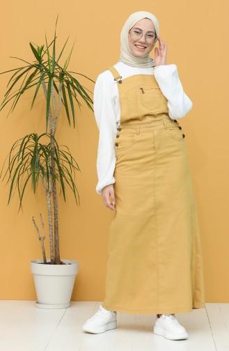 Cepli Salopet Elbise 0485-01 Hardal 0485-01