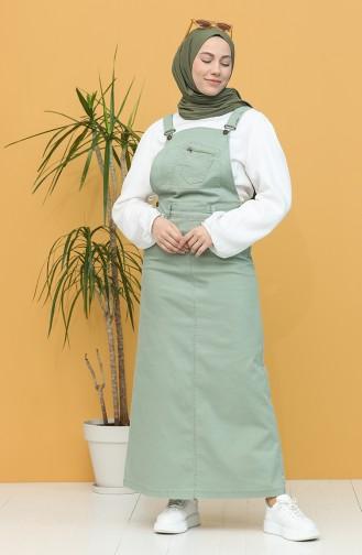 Robe Hijab Vert noisette 0485-02