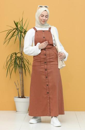Robe Hijab Couleur brique 3625-01