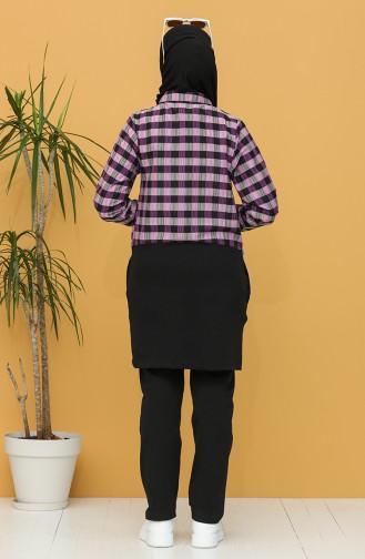 Garni Tunic Trousers Double Suit 9198-07 Damson 9198-07