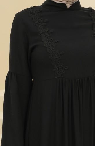 Robe Hijab Noir 8323-02