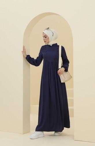 فستان أزرق كحلي 8323-04