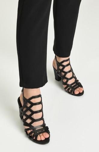 Bayan Topuklu Ayakkabı Y11-11-01 Siyah Prada