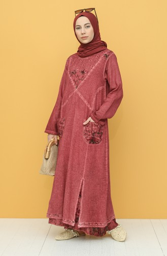 Beige-Rose Hijap Kleider 92206-05