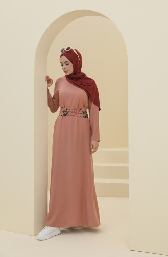 فستان زهري باهت 8325-04