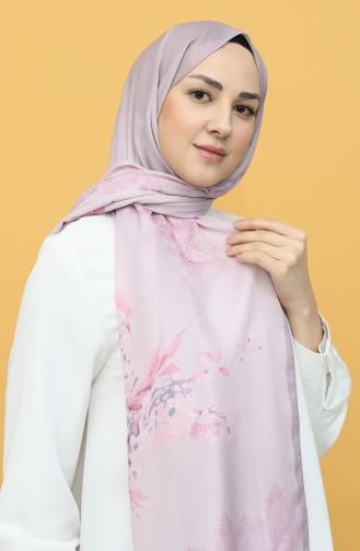 Karaca Desenli Soft Şal 90789-04 Gül Kurusu Koyu Lila 90789-04
