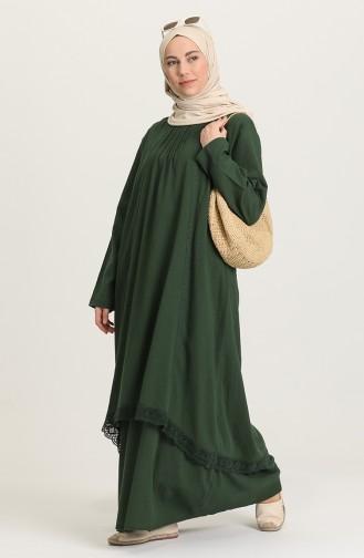 فستان أخضر حشيشي 42201-08