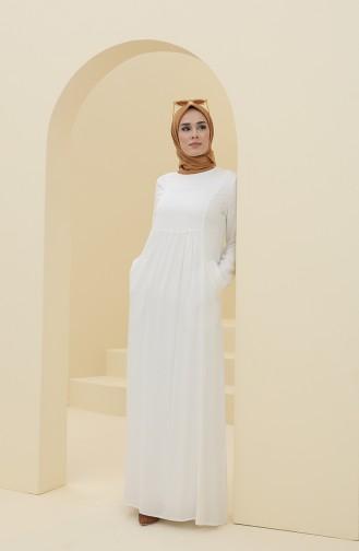 Robe Hijab Ecru 8316-01