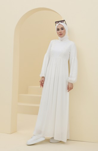 Robe Hijab Ecru 8323-01
