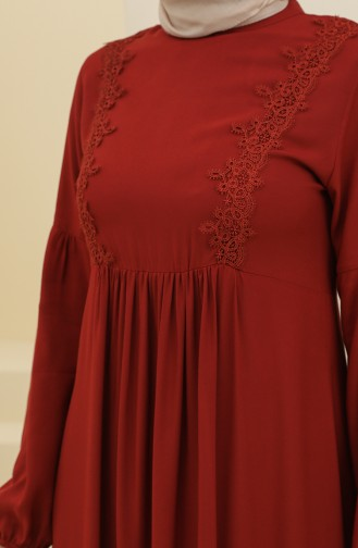 فستان أحمر كلاريت 8323-03