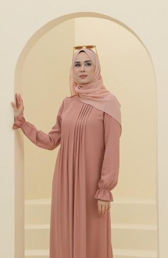 فستان زهري باهت 8324-05