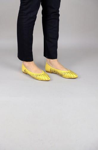 Yellow Woman Flat Shoe 1110-03