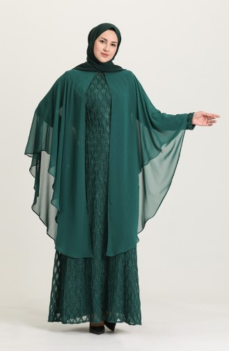 Habillé Hijab Vert emeraude 4276-03