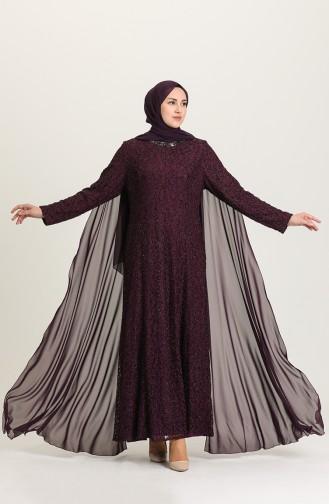 فساتين سهرة بتصميم اسلامي أرجواني 4280-01