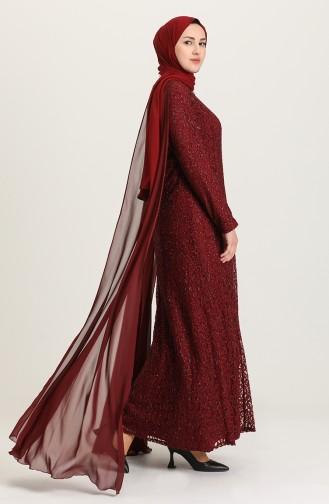 Habillé Hijab Bordeaux 4280-03