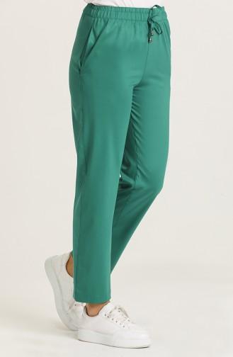 Elastic Skinny Pants 0185-05 Dark Green 0185-05
