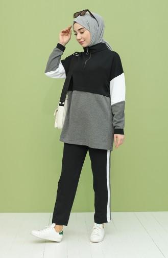 Schwarz Jogginganzüge 2357-01