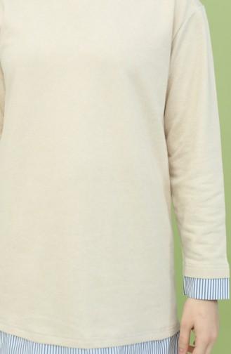 Garnili Tunik Pantolon İkili Takım 2360-04 Sütlü kahve 2360-04