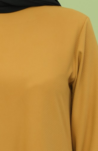 Asimetrik Tunik Pantolon İkili Takım 1024-03 Hardal 1024-03