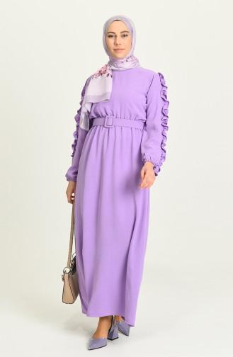 Violet Hijab Dress 0617-07