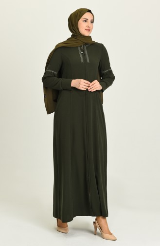 Khaki Abaya 7008-02