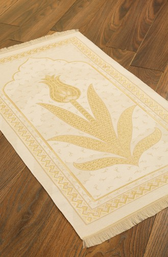 Kadife Seccade 1025-01 Krem Gold