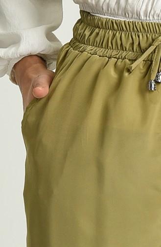Pantalon Vert khaki clair 0156-11