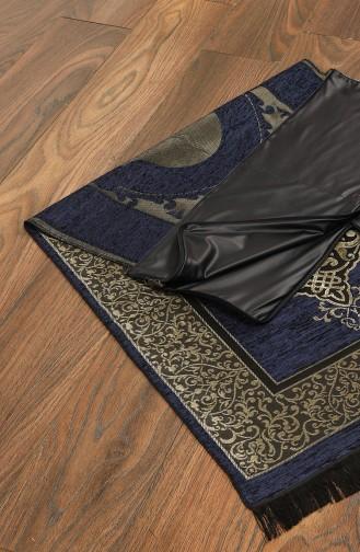 Navy Blue Praying Carpet 3000-01