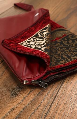 Claret red Praying Carpet 3000-04