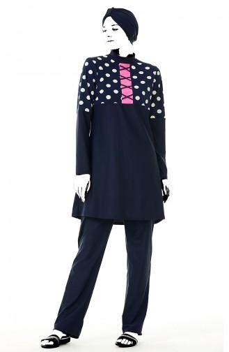 Navy Blue Swimsuit Hijab 02156-01