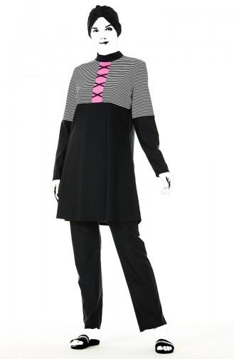 Black Swimsuit Hijab 02156A-01