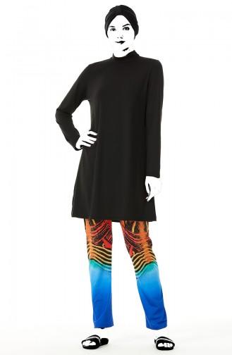 Black Swimsuit Hijab 02158-01