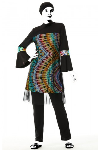 Turquoise Modest Swimwear 02164-01
