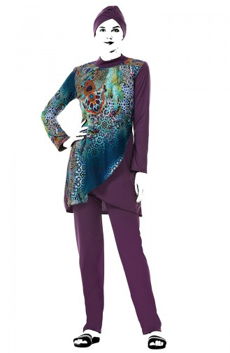 Purple Swimsuit Hijab 02101-01