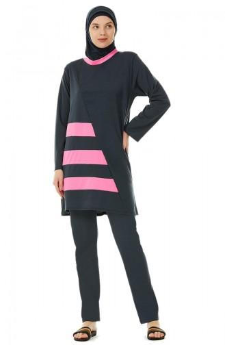 Pink Swimsuit Hijab 02103-02