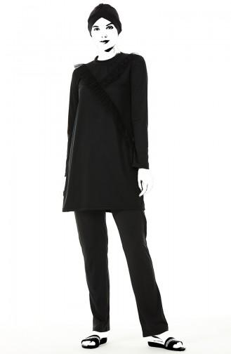 Black Modest Swimwear 02108-01
