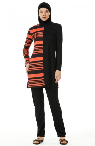 Orange Swimsuit Hijab 02116-01
