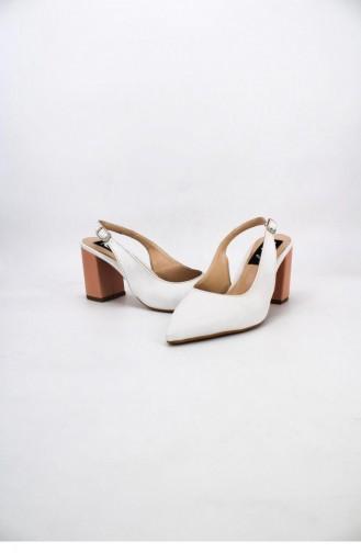 أحذية الكعب العالي أبيض 00712.BEYAZMAVI