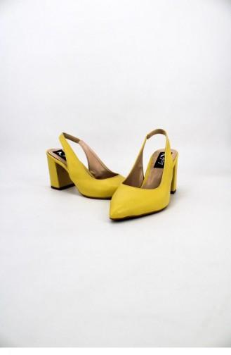 أحذية الكعب العالي أصفر 00712.SARI
