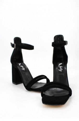 Chaussures a Talons Noir 00704.SIYAHSUET