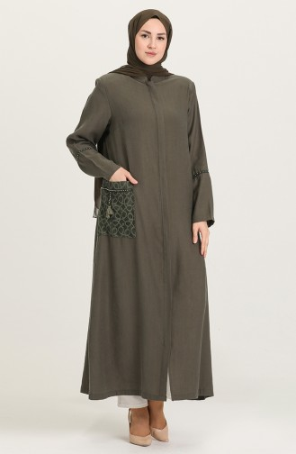 Khaki Abaya 0446-02