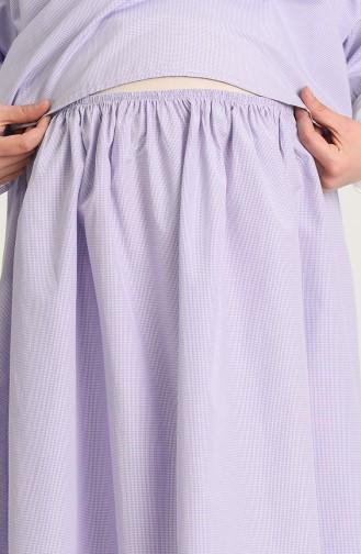 Violet Hijab Dress 1119-01