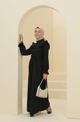 Black Hijab Dress 21Y8372-06