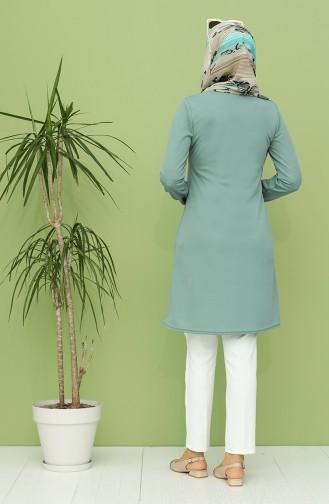 Kolyeli Tunik 1540-10 Çağla Yeşil