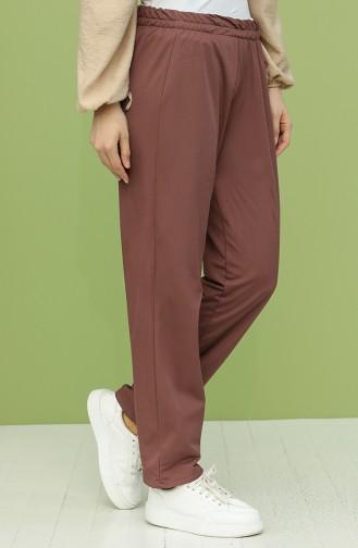 Pantalon Rose Pâle Foncé 1592-03