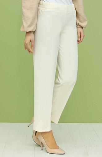 Elastic Waist Trousers 1983-18 Milk Brown 1983A-03