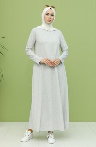 Cepli Elbise 3279-01 Gri