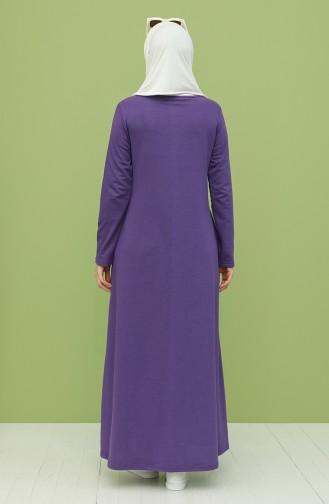 Robe Hijab Pourpre 3279-05